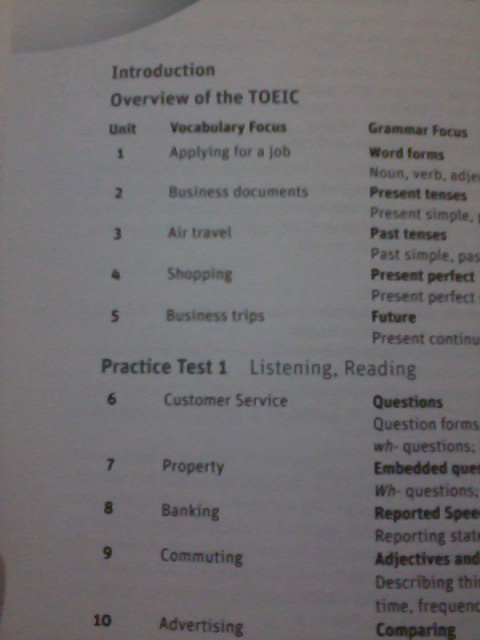 Grammar and Vocabulary for the TOEIC Test (w/ answers)
